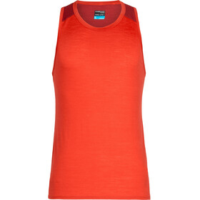 Icebreaker Amplify Running Shirt sleeveless Men red
